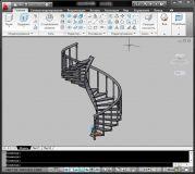 Пример моделирования лестницы в AutoCAD 2010