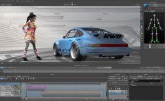 Интерфейс Autodesk MotionBuilder