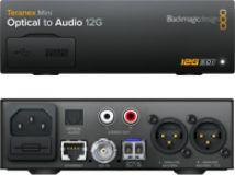 Blackmagic Teranex Mini - Optical to Audio 12G