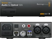 Blackmagic Teranex Mini - Audio to Optical 12G