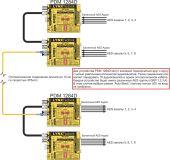 Схема каскадного соединения двух  1284D