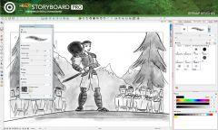 Toom Boom StoryBoard Pro - Интерфейс 4