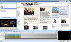 Рабочий интерфейс агрегатора новостей с тайм редактором