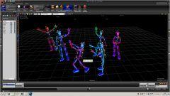Пример захвата движения множества объектов и передачи realtime MoCap данных в Vicon Blade