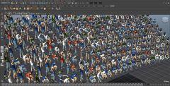 Симуляция скопелния людей на стадионе с помощью Golaem Crowd
