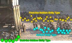Назначение типов объектов в батальных сценах в плагине Golaem Crowd