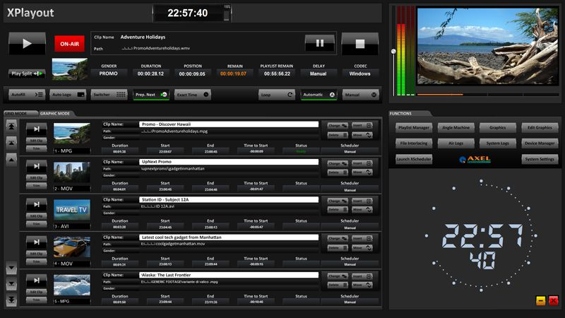 Axel xTV suite - Системы